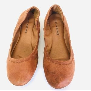 Lucky Brand Brown Leather Ballet Flats Size